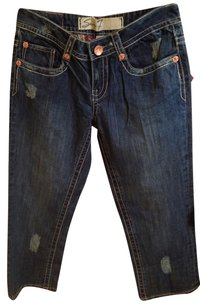 Seven Jeans Capri/Cropped Denim-Medium Wash