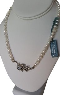 Shablool Silver Jewelry Design 925 Sterling Silver and Fresh Water Pearls Strand String Necklace