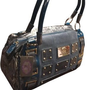 Sharif Snakeskin Gray Travel Bag