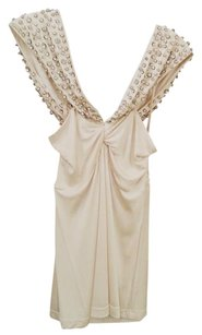 Sheri Bodell Crystal Handmade Studded Formal Going Out Date Night Cocktail Halter Cami Top Ivory