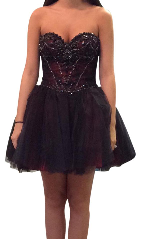 Sherri Hill Cocktail Dresses Black and Red