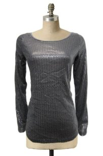 Silence + Noise Urban Outfitters Sequin Long Sleeves Embellish Top Charcoal