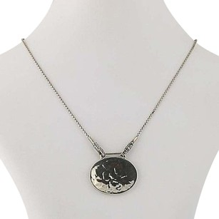Silpada Silpada Oval Hammered Disc Pendant Necklace 14 - Sterling Silver N1356