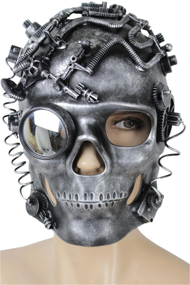 Alwaystyle4you Men Women Full Face Costume Mask Skeleton Punk Robot Halloween  sc 1 st  Tradesy : full face costume mask  - Germanpascual.Com