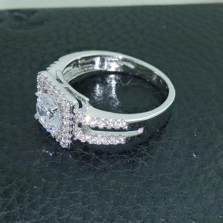 Silver Stunning White Gold Filled Cz A29 Engagement Ring