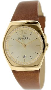 Skagen Denmark Skagen Women's Asta SKW2258 Brown Leather Quartz Watch