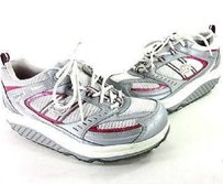 Skechers Shape Up Lace Pink, White and Silver Athletic