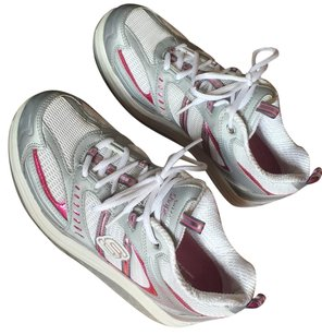 Skechers White/Silver/Grey/Pink Athletic