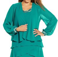 S.L. Fashions 100-polyester 613453m Cardigan Long-sleeve 3436-0421 Sweater