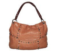 Sofia C. Leather Hobo Bag