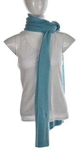 Soft Surroundings Soft Surroundings Womens Blue Scarf One Speckled Thin Knit Casual