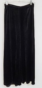 Sonia Rykiel France Velour Long Maxi Skirt Black