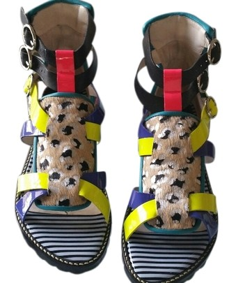 Sophia Webster Multicolor Marnee Sandal Flats (M, Size US 8 Regular (M, Flats B) fe1c80