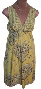 Sophie Max short dress Yellow Silk Cotton Print Excel Cond on Tradesy
