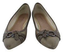 Sperry Top Sider Linden Womens Taupe Ballet Leather Casual Gray Flats