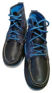 Sperry Leather Suede High Tops Gym Blue Navy Athletic