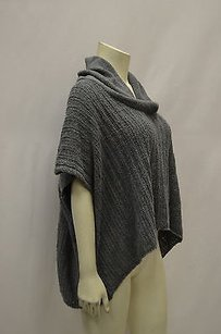 Splendid Grey Cotton Blend Cowl Neck Hi Low Knit Boxy 150007pk Sweater