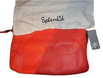 Splendid Handbag Orange / cream Clutch