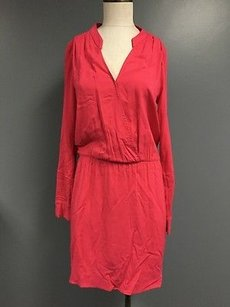 Splendid short dress Red Pink Long Sleeve Above Knee Shirt With Pockets Sma7903 on Tradesy