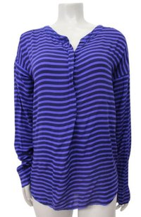 Splendid Black Striped Long Sleeve Striped Top Purple