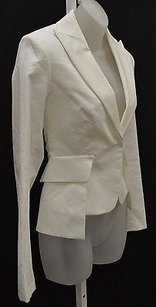 Sportmax Paninosz Cropped Fitted Vented Back 100635mm Whites Jacket
