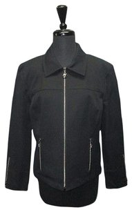 St. John Sport Cotton Blend Black Jacket