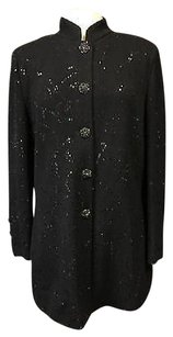 St. John Evening High Neck Black Jacket