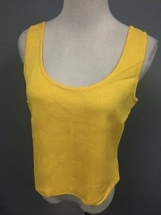 St. John Sleeveless Bright Layering Shell Scoop Neck Sm12255 Top Yellow