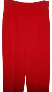 St. John Collection Straight Pants Red