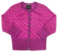 St. John Couture Heart Floral Crystal Cardigan