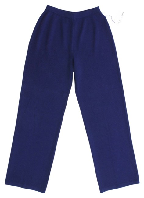 St. John Knit Stretchy New Trouser Pants NAVY