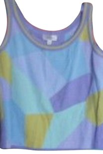 St. John Top Lavender/turquoise/lime green