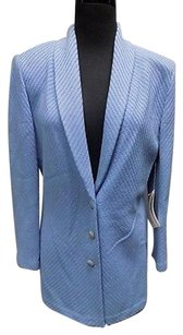 St. John St John Collection Light Blue Button Down Knit Blazer Sma9820