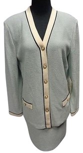 St. John St. John Collection Mint Green Wool Blend Skirt Suit Top10 Skirt2 Sma9708