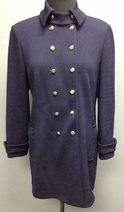 St. John St. John Collection Navy Blue Wool Military Style Button Front Blazer 2106