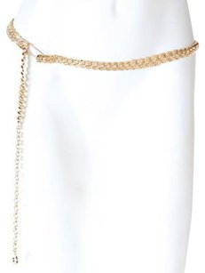 St. John St John Gold Metal Chain Link Skinny Layering Adjustable Belt Osfm