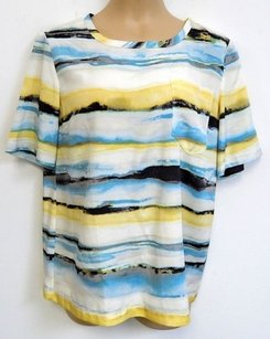 St. John St Multi Colored Silk Top Multi-Color