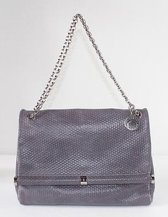 Stella McCartney Graphite Texture Vegan Chain Strap Nwd Shoulder Bag