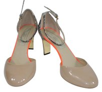 Stella McCartney Snakeskin Patent Leather Tan Nude Pumps