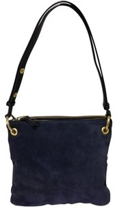 Steven Alan Brushed Leather Blue Shoulder Bag