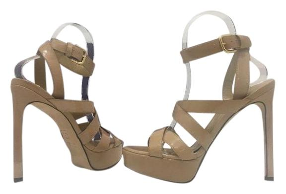 Stuart Weitzman High Heels Sandals Black Suede Size 6.5 Adobe Aniline  Patent - Nude Patent Leather ...