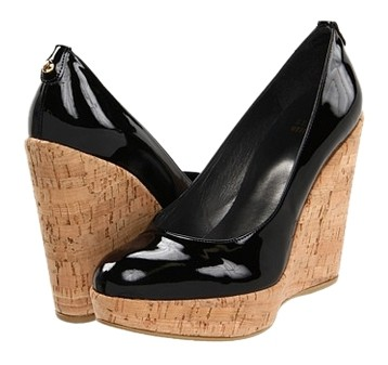 shop buy cheap low shipping fee Stuart Weitzman Quilted Patent Leather Wedges 100% authentic online cdVUgGvKi