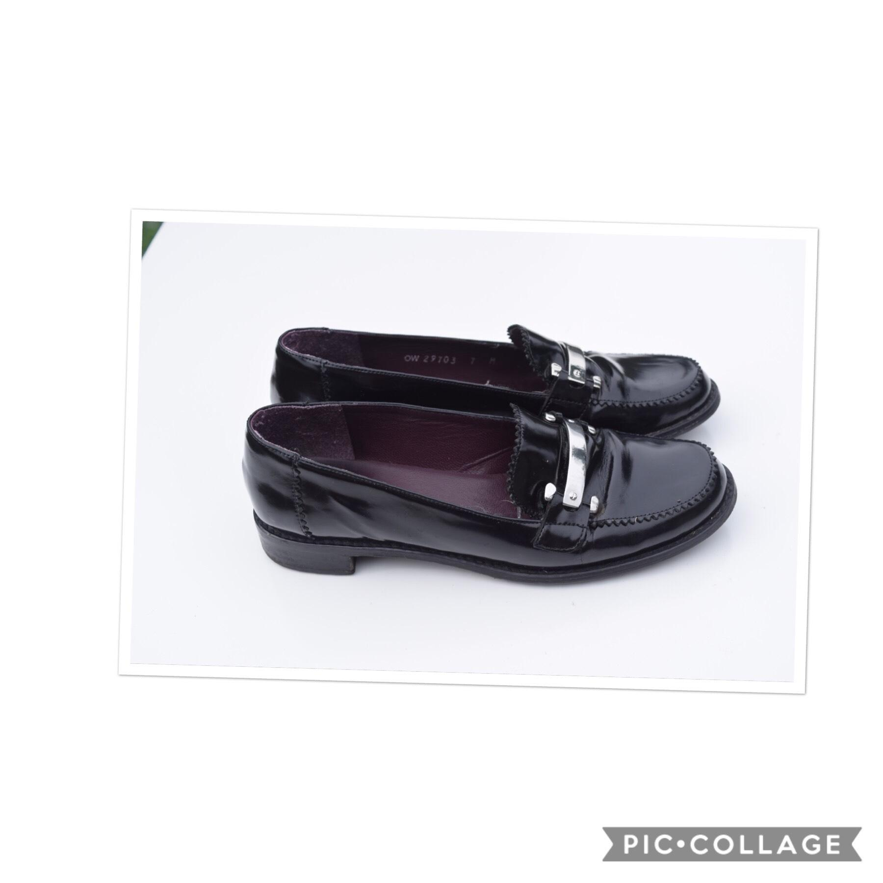 Stuart Weitzman Black Patent Loafers Flats Size US 7 Regular (M, B)