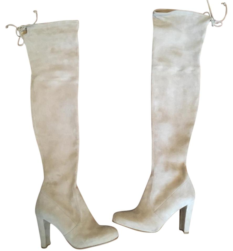 Stuart Weitzman Buff Suede Highland Over The Knee Boots/Booties Size US 5.5 Regular (M, B)