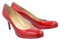 Stuart Weitzman Womens Classic Leather Stiletto Heels Red Pumps