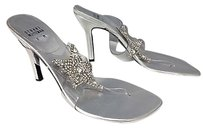 Stuart Weitzman Plastic Clear And Silver Sandals