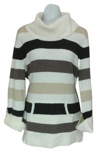 Style & Co Striped Kangaroo Pocket Sweater