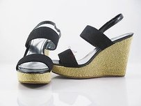 Style & Co Mary High Heel Wedge Black Platforms
