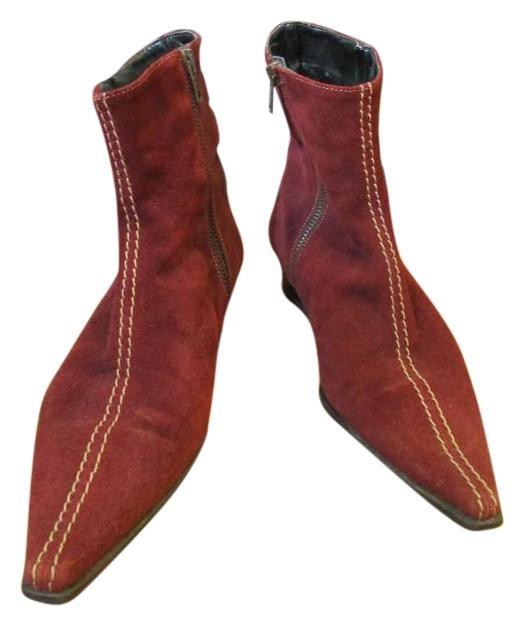 sundance suede pointed toe burgundy 6 maroon boots boots