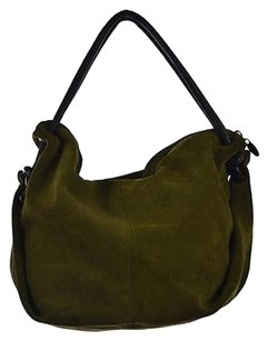 Sundance Womens Suede Handbag Satchel in Olive Green